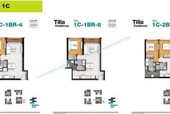 1 bedroom T1C