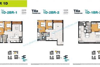 2 bedrooms T1D