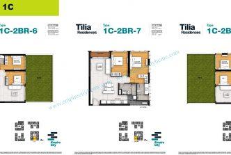 2 bedrooms T1C