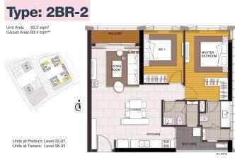 2 bedrooms 2