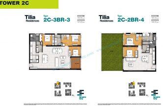 3 bedrooms T2C