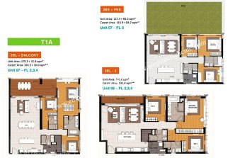 3 bedroom low floor T1A