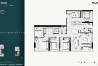 4 bedrooms tower 2