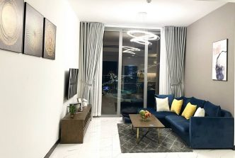 High floor apartment for rent in Empire City, modern style of furniture, river view